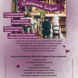 Cérémonie-laïc, une alternative aux mariages classiques.