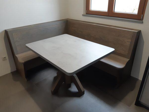 Moderne en chêne huilée gris argent 01