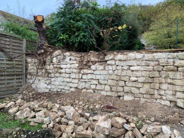 Mur pierre Avant Travaux