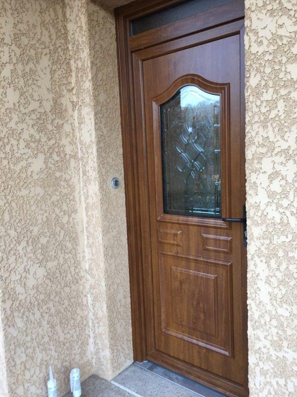 porte d'entrée pvc chêne doré