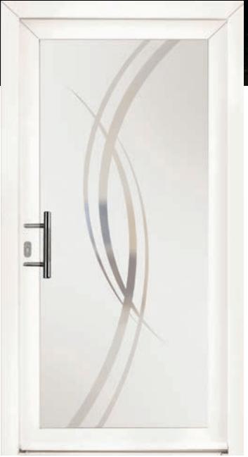 produit 2 porte entree PS186 pvc blanche panneau verrissima