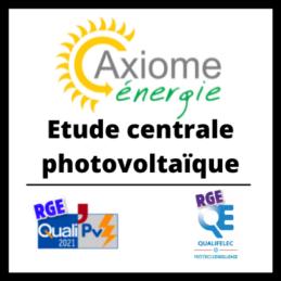 Etude centrale photovoltaïque