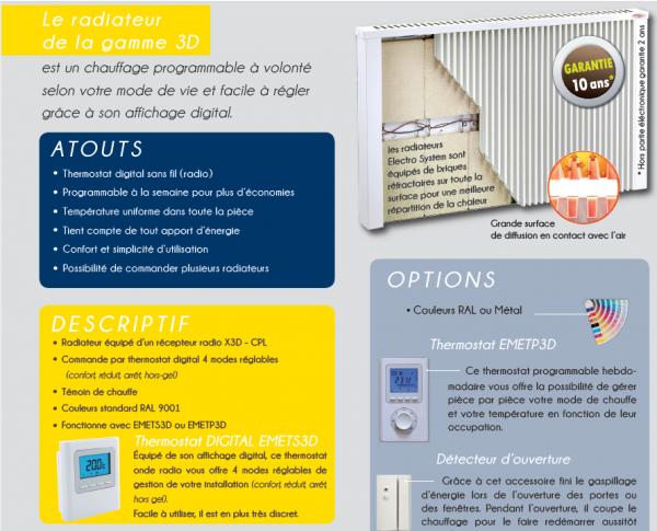 Radiateur a thermostat digital sans fil 4