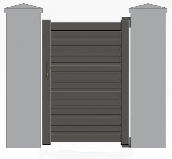 PATIO portillon Gris 2900