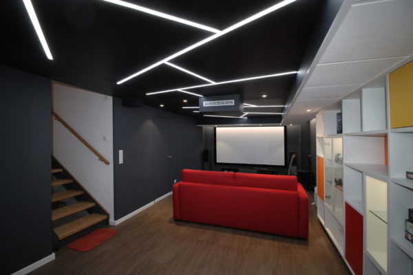 produit 2 azimut plafond tendu pvc intégration gorge lumineuse