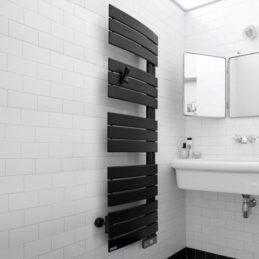 sèche-serviettes noir salle de bain