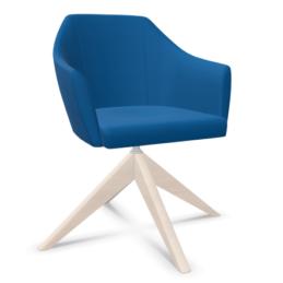 Produit 2 chauffeuse nani pieds bois pyramidal couleur bleu electrique