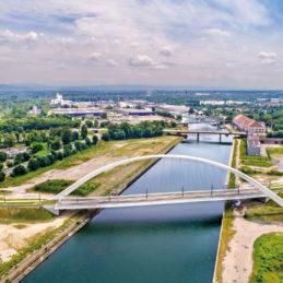 Citadelle,Bridge,Across,Bassin,Vauban,For,Trams,And,Bicycles.,Part