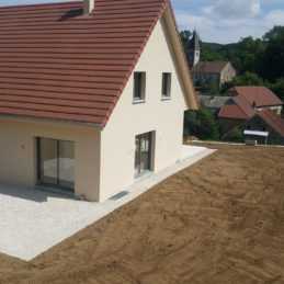 Création terrassement maison, remblaiement